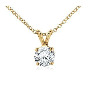 Jewelry - 1 Carat Solitaire Diamond Necklace Pendant 14K